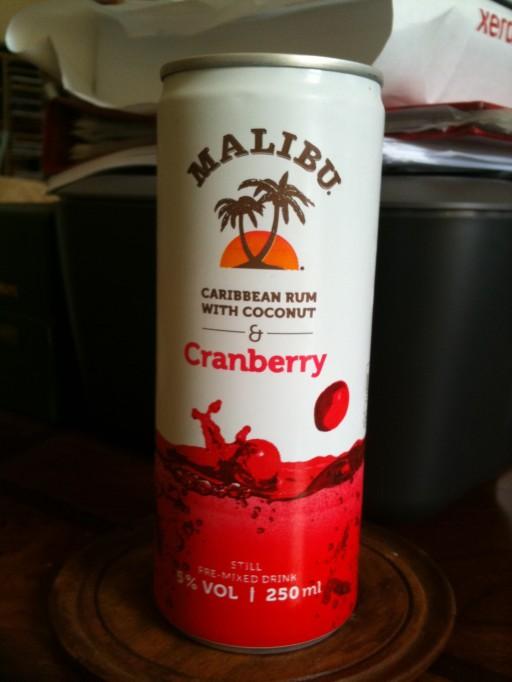 Malibu & Cranberry pre-mixed