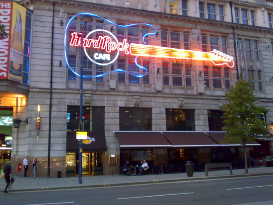 Menu At Hard Rock Cafe Manchester