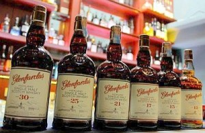 Some of the Glenfarclas Range