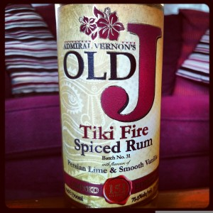Admiral Vernon's Old J Spiced Tiki Fire