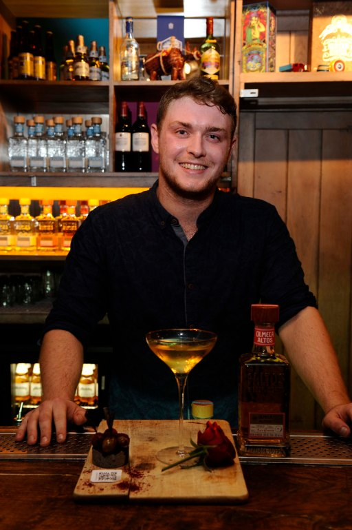 Chris Mosey of Hula Bar with his winning cocktail, 'Olmeca you a Boss Martini'
