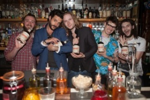 Don Papa Rum Ambassador Matthias Cadeac D'Arbaud (2nd from left)