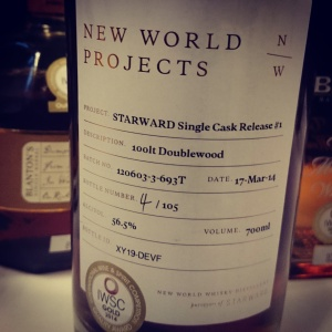 New World Projects Starward Single Cask #1