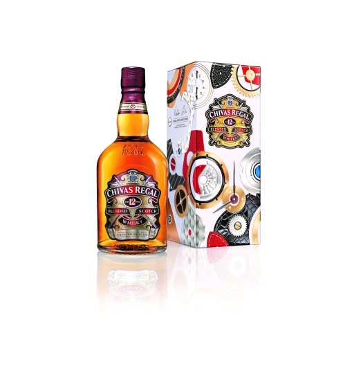 Chivas Regal 12YO MFG bottle and gift packaging