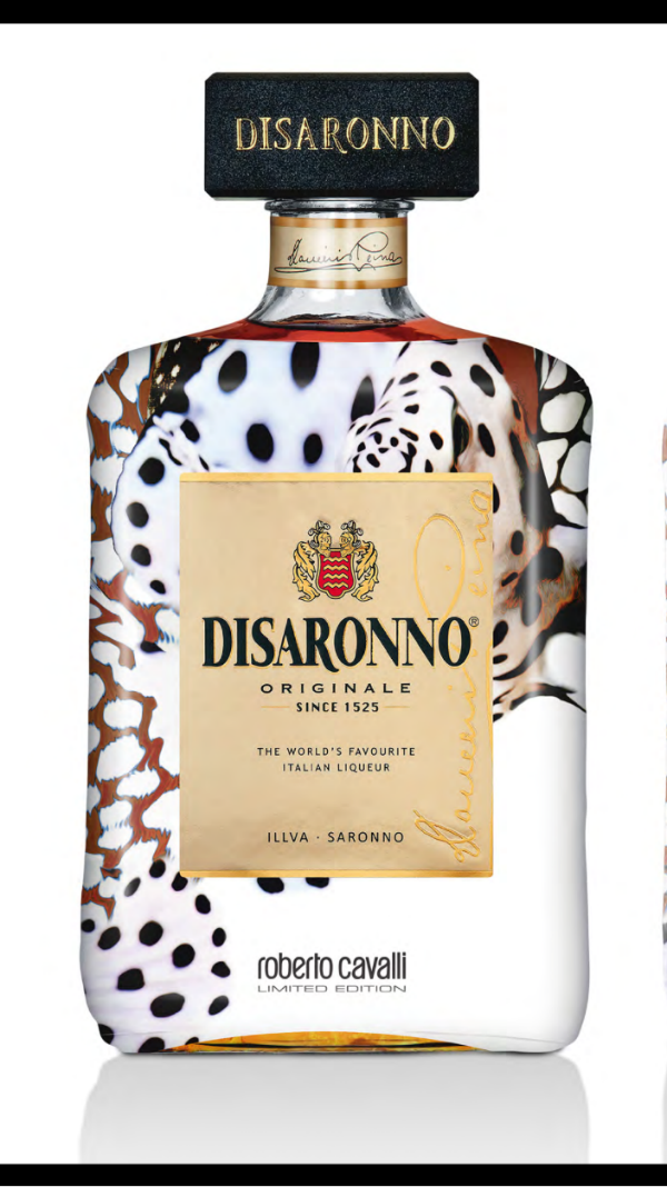 disaronno partners with famed roberto cavalli to outfit