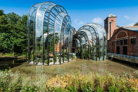 9.The botanical glasshouses, designed by Thomas Heatherwick and Heatherwick Studios, taking centre stage at Laverstoke Mill