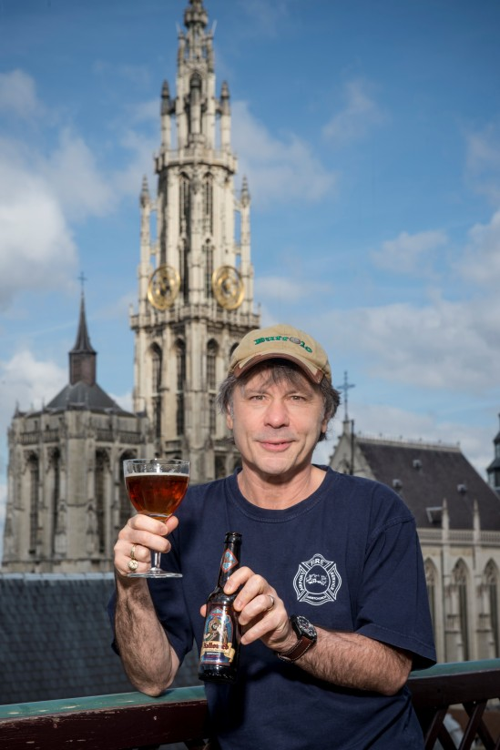 Bruce Dickinson unveils new HALLOWED beer in Antwerp, Belgium. Photo credit John McMurtrie.