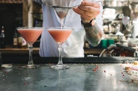 Poppy & Pomegranate Martini