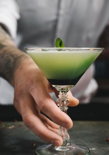 Velvet Green Martini 2