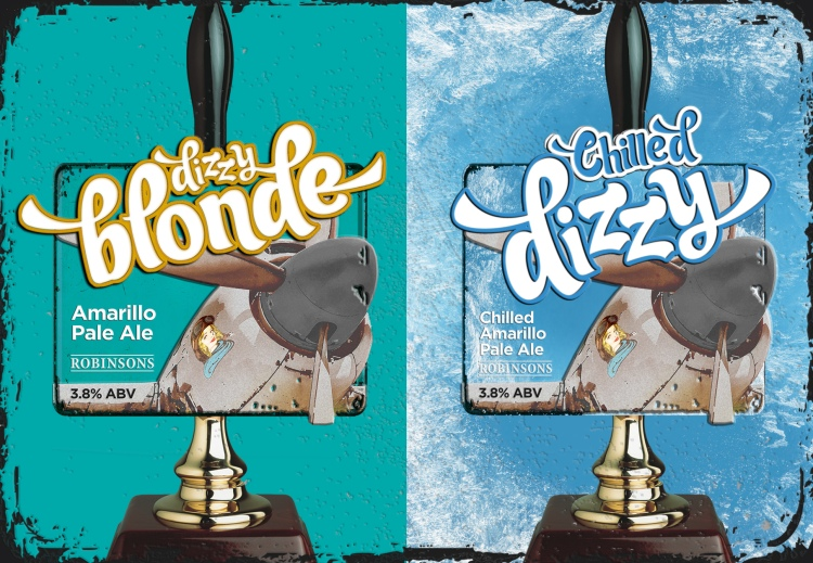 ROBINSONS BREWERY LAUNCH NEW LOOK DIZZY BLONDE & CHILLED DIZZY
